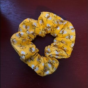Yellow Bee Scrunchies